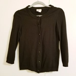 Kate Spade black cardigan size small